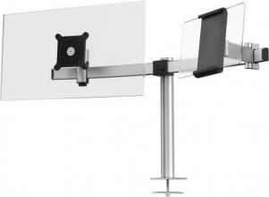 , Monitorarm Durable met bladdoorvoer voor 1 scherm en 1 tablet