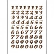 , Etiket Herma 4193 8mm getallen 0-9 goudfolie 64stuks