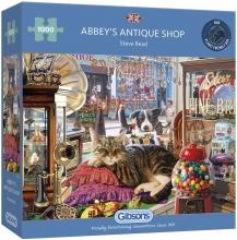 Gib-g308 , Puzzel abbey`s  antique shop  gibsons 1000 stuks