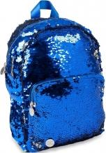, Rugzak qc sparkle 32cm blue sequins