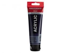 , Talens amsterdam acrylverf tube 120 ml. pruisisch blauw phtalo 566
