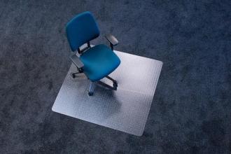 , vloermat Kangaro voor tapijt 110 x 120 cm transparant PET   2,1mm/nop 2,1