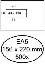 , Envelop Hermes EA5 156x220mm venster 4X11links 500stuks