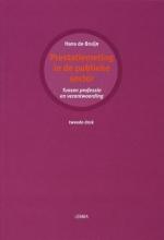 J.A. de Bruijn , Prestatiemeting in de publieke sector