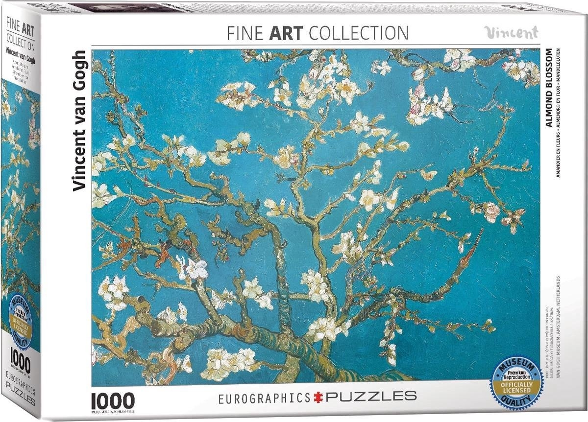 Eur-6000-0153,Puzzel almond blossom - vincent van gogh eurographics 1000 stuks 48x68 cm