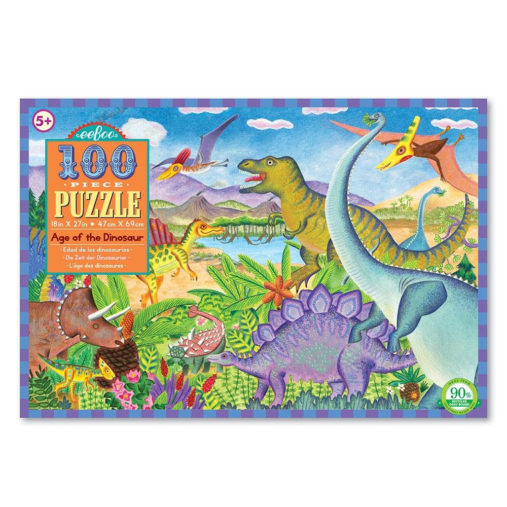 Eeb-pzaod,Puzzel- eeboo - age of the dinosaur-  100 stukjes - 45.7x68.5 cm