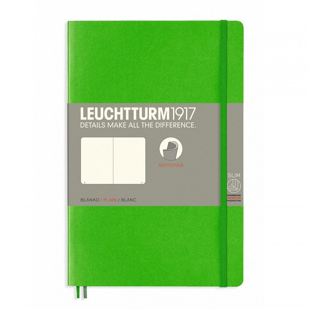 Lt358307,Leuchtturm notitieboek softcover 19x12.5 cm blanco heldergroen