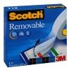 , Plakband Scotch Magic 811 onzichtbaar 19mmx33m verwijderbaar