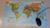<b>Wereld Muis Pad (nederlandstalig) 43x67cm</b>,