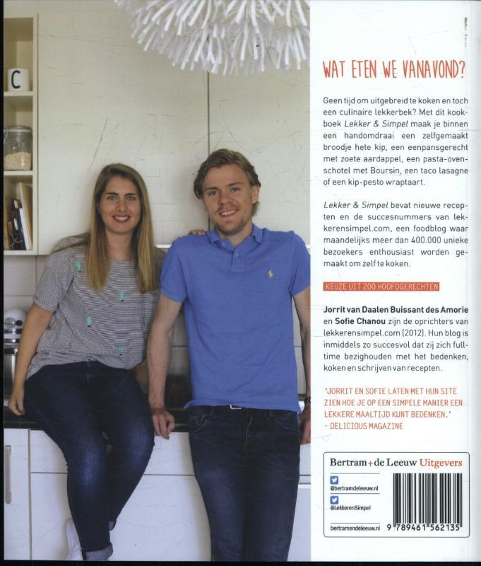 Jorrit van Daalen Buissant des Amorie, Sofie Chanou,Lekker & simpel