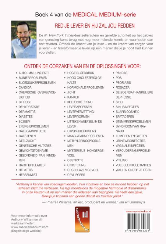 Anthony William,Medical Medium Liver Rescue Nederlandse Editie