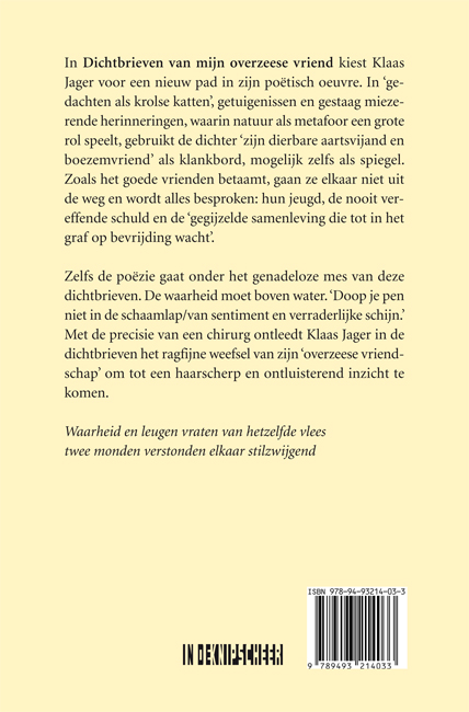 Klaas Jager,Dichtbrieven van een overzeese vriend