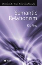 Kit Fine Semantic Relationism