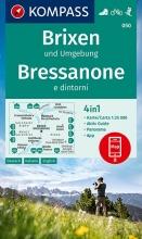 KOMPASS-Karten GmbH , KOMPASS Wanderkarte Brixen und Umgebung, Bressanone e dintorni 1:25 000