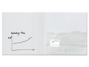, Glasmagneetbord XL Sigel super wit 2000x1000x18mm 2 magneten