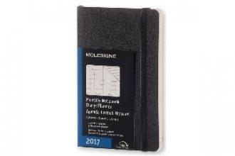 MOLESKINE MONATS NOTIZKALENDER 2017 P/A6, SOFT COVER, SCHWARZ