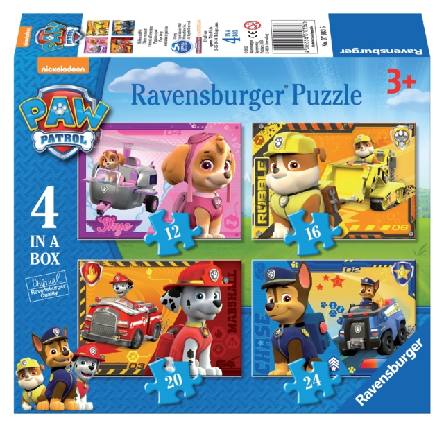 ,Puzzel Ravensburger Paw Patrol 4x puzzels 12+16+20+24 st