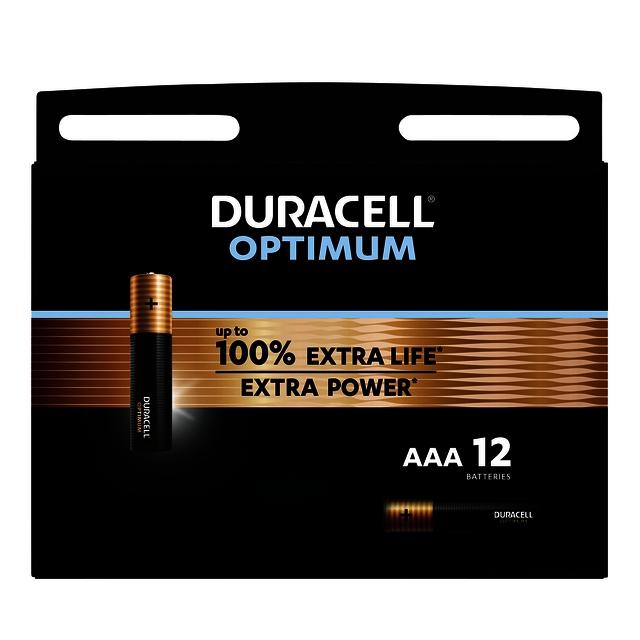 ,Batterij Duracell Optimum 12xAAA