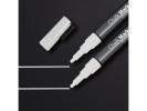 ,krijtmarker Sigel 1-2mm afwasbaar 2 stuks wit
