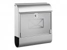 ,brievenbus Alco zilver met slot 360x400x110mm