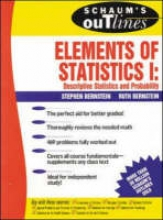 Bernstein, Stephen Schaum`s Outline of Elements of Statistics I