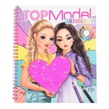 , Topmodel kleurboek met pailletten