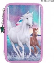 , Miss melody 3-vaks etui northern lights paarden