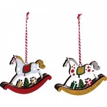 , Kerst hanger hobbelpaard ass.