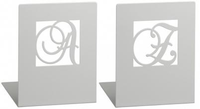 Mos-81573 Boekensteunen zilver a en z metaal