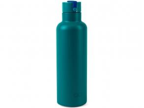 , Quarto colori on the go thermosfles petrol/cobalt blauw