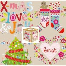 Pkke.dzfg , Christmas cubes - doos a 16 wenskaarten kerst