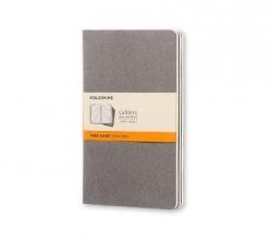 Moleskine Pebble Grey Ruled Cahier Large Journal (3 Set)