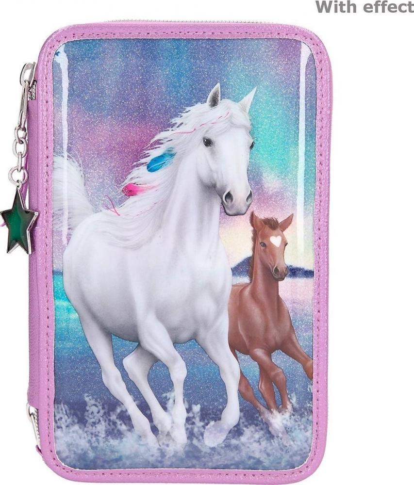 ,Miss melody 3-vaks etui northern lights paarden