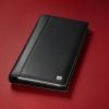 , visitekaartringband Sigel Torino leer zwart 90x58mm 160     kaartjes