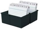 ,<b>kaartenbak HAN breed A7 kunststof zwart</b>