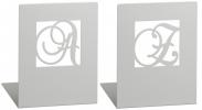 <b>Mos-81573</b>,Boekensteunen zilver a en z metaal