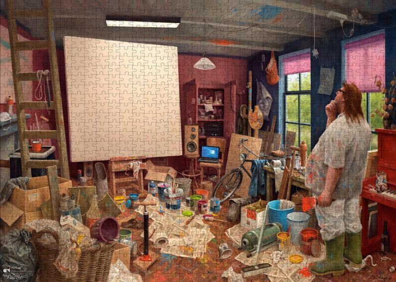 ,Marius van Dokkum - Wachten op inspiratie -  Puzzel 1000 stukjes