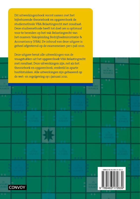 C.J.M. Jacobs,VBA Belastingrecht 2021/2022 Uitwerkingenboek
