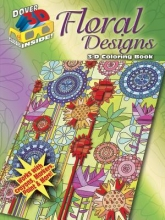 Jessica Mazurkiewicz 3-D Coloring Book - Floral Designs