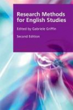 Griffin, Gabriele Research Methods for English Studies