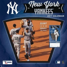 Cal 2017 New York Yankees 2017 12x12 Team Wall Calendar