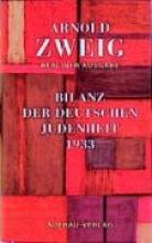 Zweig, Arnold Essays III/2. Bilanz der deutschen Judenheit 1933