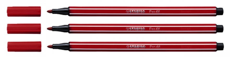, Viltstift STABILO Pen 68/50 donkerrood