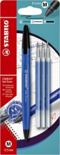 Rollerpen STABILO Gel Exxx  blauw blister + 3 vullingen