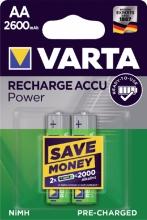 , Batterij oplaadbaar Varta 2xAA 2600mAh ready2use