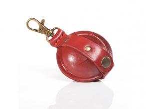 , sleutelhanger Mika Mini zadelleer opbergvak voor munten.    rood