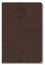 Taschenkalender A6 Soft Touch 2017 Braun