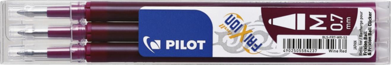 , Rollerpenvulling Pilot Frixion BLS-FR7 0.35mm wijnrood