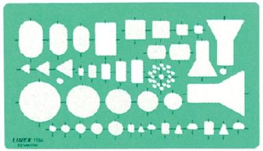 , Sjabloon Linex 1184 elektro symbolen
