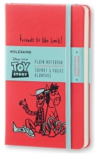 , Moleskine LE Notitieboek Toy Story Pocket (9x14 cm) Blanco Geranium Rood